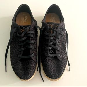 TOMS Lace Up Espadrille Sneakers